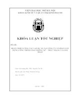 Hoàn Thiện Công Tác Lập Dự Án Tại Công Ty Cổ Phần Xây Dựng Công Trình Giao Thông 267 – Thực Trạng Và Giải Pháp.