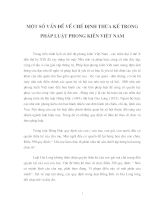 Một số vấn đề về chế định thừa kế trong pháp luật phong kiến việt nam.doc