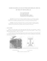 Nghiên cứu động lực học hệ thống rung động đúc dầm cầu bê tông cốt thép dự ứng lực