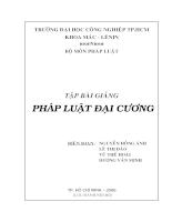 Pháp luật đại cương Tập bài giảng.PDF