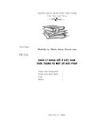 Quản lý ngoại hối ở VN - Thực trạng và Một số Giải pháp