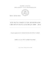 Xây dựng chiến lược kinh doanh cho DNTN đang-Trại Cá Sấu Long Xuyên giai đoạn 2008 – 2014