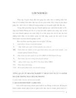 Báo cáo thực tập tổng hợp Doanh nghiệp sản xuất kinh doanh và Thương mại Thành Phong