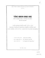 Liên minh chiến đấu Việt - Lào trong thời kỳ kháng chiến chống Mỹ 1954 - 1975