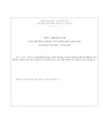 Giải pháp hạn chế nợ quá hạn trong hoạt động tín dụng cho vay tín chấp cá nhân của các ngân hàng TMCP tư nhân tại tp.hcm