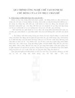 Qui trình công nghệ chế tạo bánh xe chủ động của cần trục chân đế 7,5 Tấn và 10 Tấn