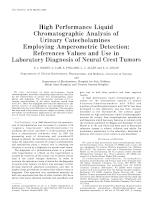 High performance liquid chromatographic analysis of urinary catecholamines employing amperometric detection.pdf