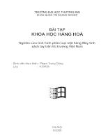 Nghiên cứu tình hình phân loại mặt hàng Máy tính xách tay trên thị trường Việt Nam