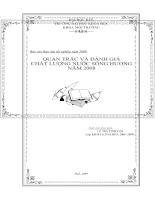 Quan trắc và đánh giá chất lượng nước sông Hương năm 2008