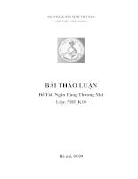 Thực trạng hoạt động của các ngân hàng thương mại tại Việt Nam