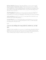 Nguyên lý thống kê - Chương 1