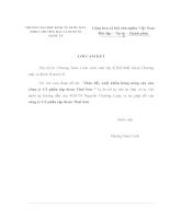 Thúc đẩy hoạt động xuất khẩu hàng nông sản của công ty Cổ phần Tập Đoàn Thái Sơn