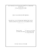 Đánh giá cải cách hành chính nhà nước trong lĩnh vực quản lý công