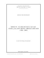 Kinh tế - xã hội huyện cao lộc tỉnh lạng sơn trong thời kỳ đổi mới (1986 - 2009)