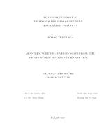 Quan niệm nghệ thuật về con người trong tiểu thuyết mười lẻ một đêm của hồ anh thái