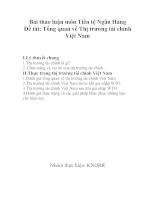 Tổng quan về Thị trường tài chính Việt Nam