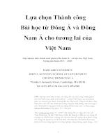 Lựa chọn Thành công Bài học từ Đông Á và Đông Nam Á cho tương lai của Việt Nam.