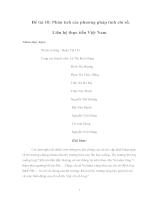 Phân tích các phương pháp tính chỉ số - Liên hệ thực tiễn Việt Nam (TT).