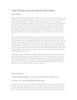 Chất triết học trong thơ Nguyễn Bỉnh Khiêm