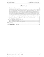 Tính cân Bằng nhiệt lượng trong hệ thống tháp oxy hoá