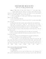 Bài tập thu hoạch số 1 môn quản trị kinh doanh