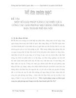 Một số Giải pháp nâng cao hiệu quả công tác Giải phóng mặt bằng trên địa bàn thành phố Hà Nội
