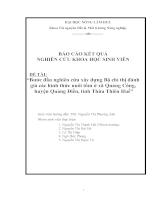 Bước đầu nghiên cứu xây dựng bộ chỉ thị đánh giá các hình thức nuôi tôm ở xã quảng công, huyện quảng điền, tỉnh thừa thiên huế