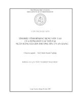 Tìm hiểu tình hình sử dụng vốn vay của nông dân Huyện Chợ Mới vay vốn tại Ngân hàng Sài Gòn Thương Tín-Chi nhánh An giang