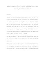 Kiến thức thực hành về phòng ngừa nhiễm giun kim của phụ huynh trẻ mẫu giáo