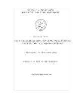 Thực trạng hoạt động tín dụng tại Ngân hàng TMCP Sài Gòn - Chi nhánh An Giang