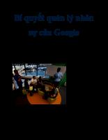 Bí quyết quản lý nhân sự của Google