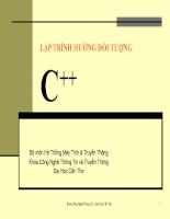 Bài giảng lập trình hướng đối tượng C++