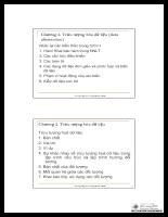 Tài liệu lập trình hướng đối tượng