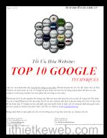 Cách tối ưu hóa website lên Top Google
