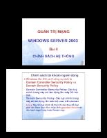 Quản trị mạng window server 2003 Chính sách hệ thống