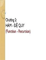 Khái niệm hàm và đệ quy trong lập trình
