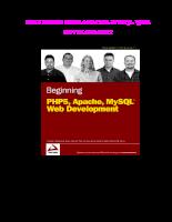 Giáo trình hướng dẫn lập trình php