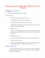 Phương pháp thực nghiệm dùng để định tên các loài vi khuẩn