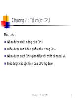 Bài giảng tổ chức CPU