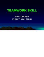 Teamwork skill - Kỹ năng làm việc nhóm