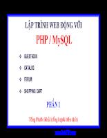 Kỹ thuật lập trình PHP và MySQL