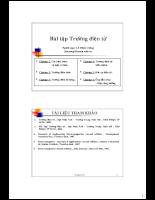 Bài tập trường điện từ  khái niệm và luật cơ bản.pdf