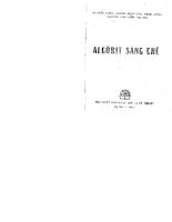 Algôrit sáng chế - Phần 1