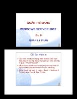 Quản lý in ấn trong mạng nội bộ