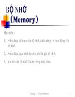 Cấu trúc máy tính bộ nhớ