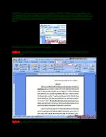 Bài viết hướng dẫn tạo một mục lục tự động
