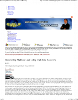 Recovering mailbox user using dial tone recovery
