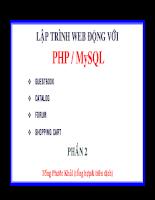 Lập trình web động với php và MySQL