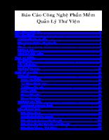 báo cáo công nghệ phần mềm quản lý thư viện.doc