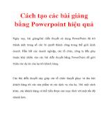 Cách tạo các bài giảng bằng Powerpoint hiệu quả